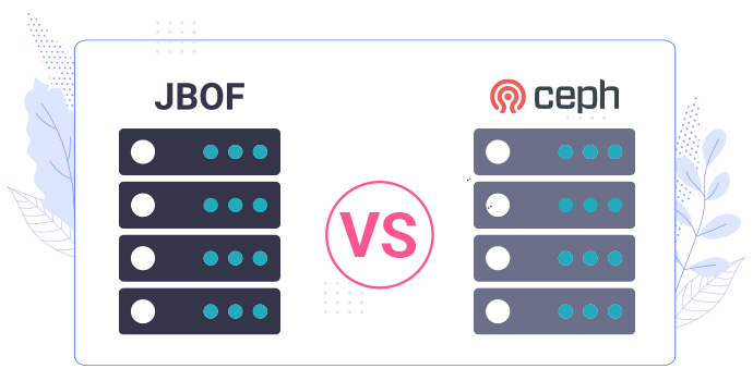 differences between ceph jbof nvme systems