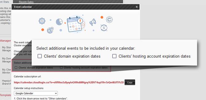 Calendar Events Features Website Web Hosting Services